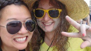 Cathy Huynh, left, and Kari Bowerman took this photo while backpacking in Vietnam.