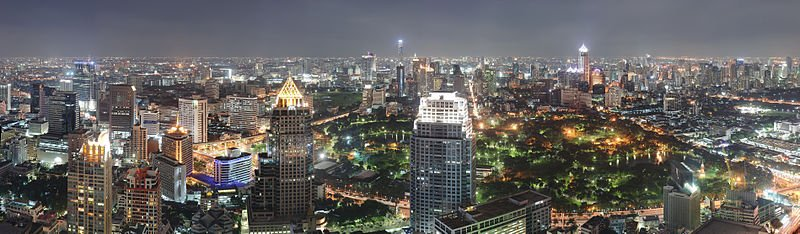 Bangkok at Night (Wikimedia)