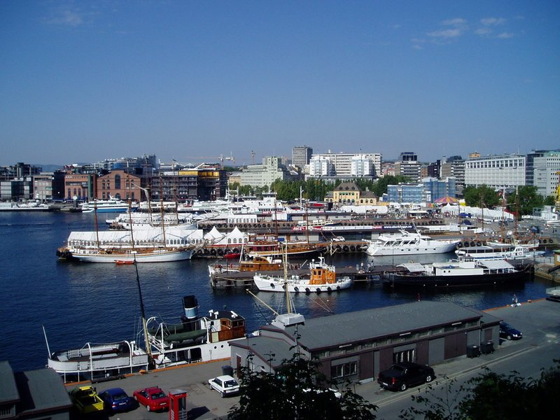 The port in Oslo, the capital of Norway, ranked earlier this year as the world's happiest country (Wikimedia)