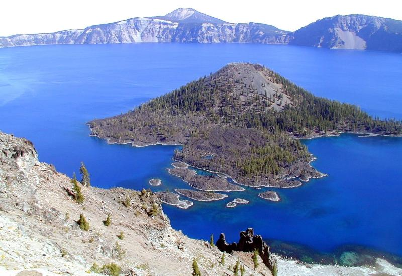 Oregon's Crater Lake with Wizard Island in Center. (U.S. National Park Service)