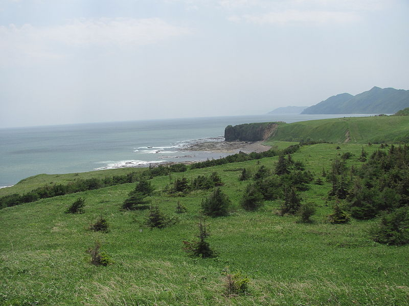 Cape Tihii on the Sea of Okhotsk looking out from Sakhalin Island, Russia, a destination that was closed to outside visitors until 1990. (Wikimedia)