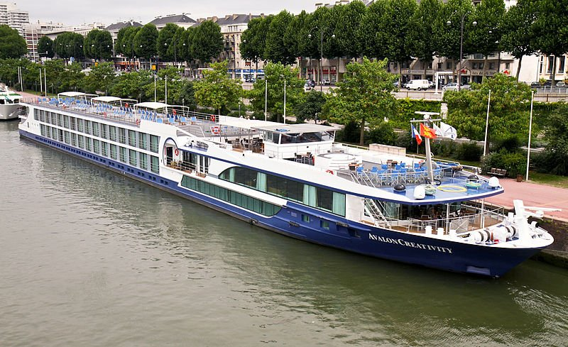 European River Cruising is expected to grow dramatically in 2014. Here is the Avalon Creativity, a Hamburg-based ship, which cruises the Seine, docked in Paris. (Wikimedia)