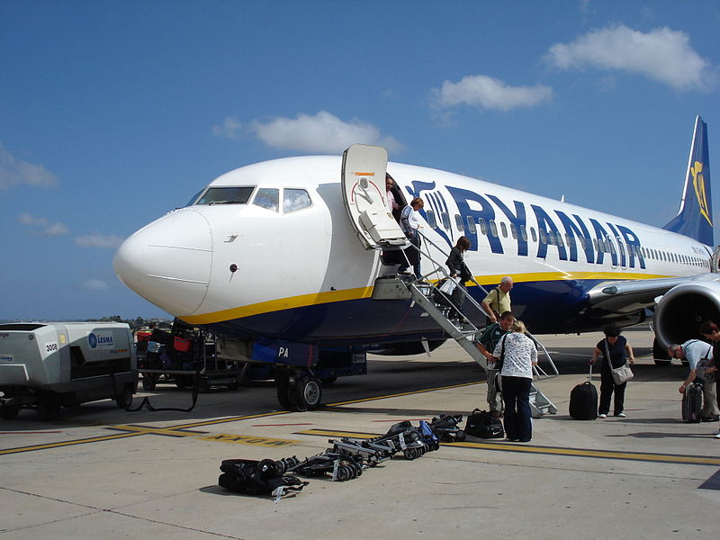 Founded in 1985, Ireland's Ryanair is Europe's first and largest low-cost airline. Each day it operates more than 1600 flights connecting 180 destinations in 29 countries. (Wikimedia)