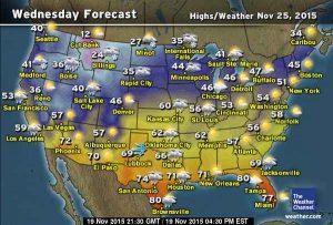 Thanksgiving travel forecast